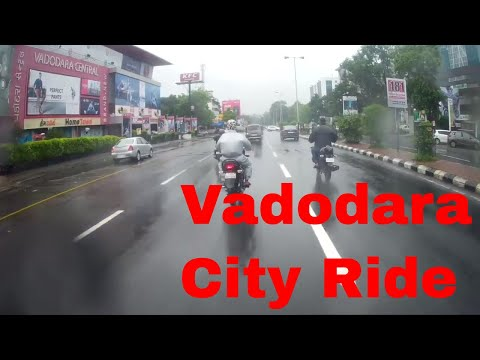 Vadodara City Ride in Rain 2017 | City Observation Full Video