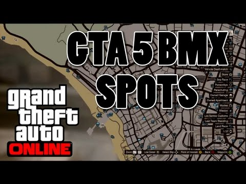GTA 5 BMX - Basic Spot Locations