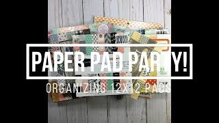 Paper Pad Party // Organizing 12x12 Pads