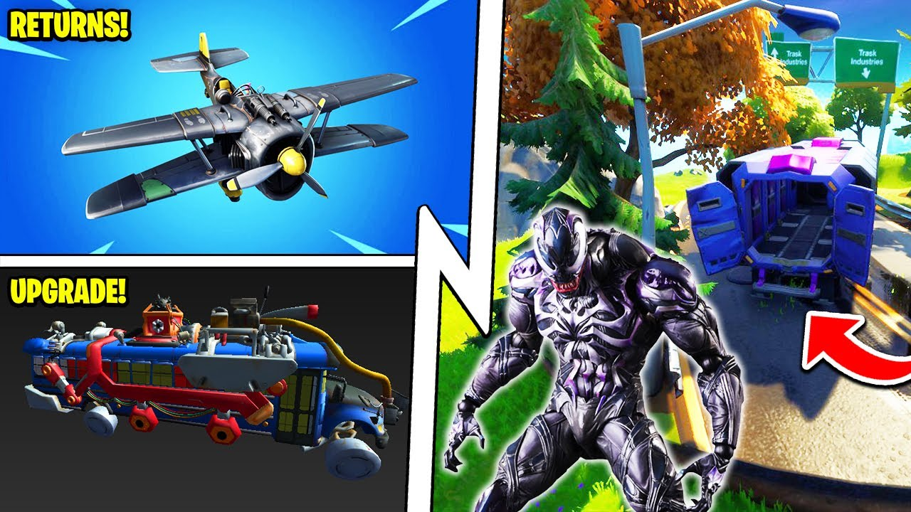 AIRPLANES Return, Venom ESCAPED, Battle Bus Upgrade!