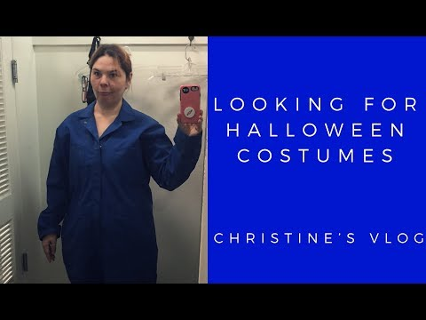Halloween costume shopping at It's a Wrap used movie wardrobe store