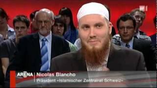Nicolas Blancho bei Arena 1 von 8 SF1 Radikale Muslime von 23.04.2010