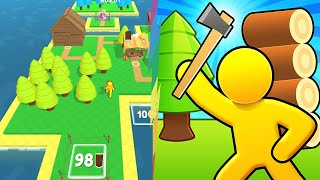 Người Que Stick Man Chặt Gỗ Xây Dựng Hòn Đảo Rộng Nhất Thế Giới - Craft Island Top Game Android Ios screenshot 4