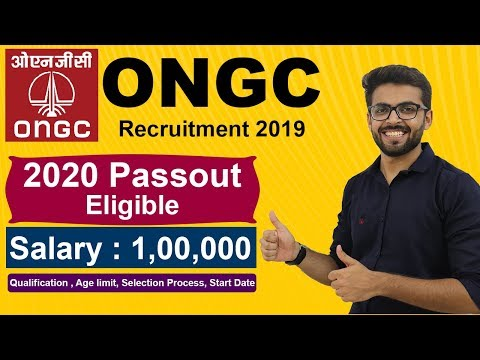 ONGC Recruitment 2019 | Salary 1,00,000 | Final Year Eligible | BE/Btech | Latest Jobs 2019