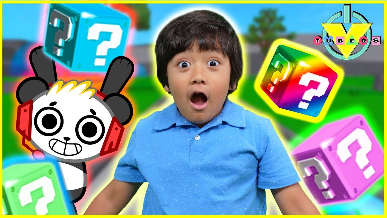 Roblox Lucky Blocks RAINBOW BLOCKS AND RAINBOW CARPETS! Let's Play Ryan Vs. Combo Panda!