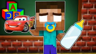 Monster School : BAD BABY HEROBRINE AND GOOD ZOMBIE ALL EPISODE - Minecraft Animation
