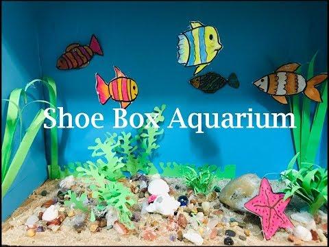Shoe Box Aquarium | Aquarium For School Project | Diy /| 3D CRAFT