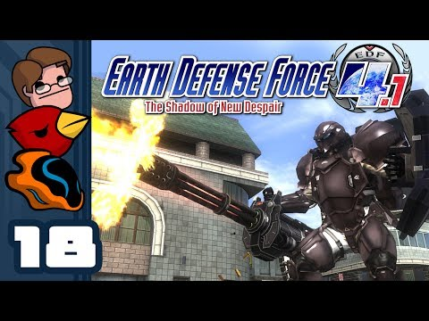 Let's Play Earth Defense Force 4.1 The Shadow of New Despair - Part 18 - Back To The Depths!