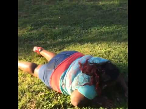 EPIC FAIL: Fat lady tries to cartwheels and face plants!