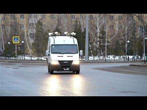 О самоизоляции жителям Нижневартовска напоминает автобус с громкоговорителем