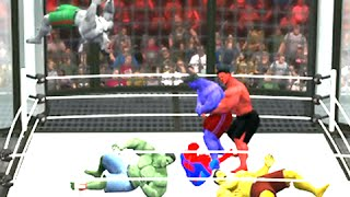 HULK VS RED HULK VS GREY HULK VS BLUE HULK VS YELLOW HULK - WWE 2K15 - EPIC BATTLE