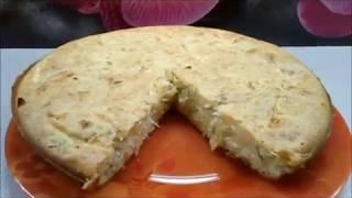 Ленивый пирог с капустой Наливной пирог