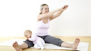 Упражнения после родов.  Упражнения для мам.