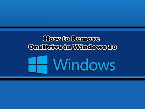 Remove onedrive from windows 10 start menu