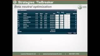 TieBreaker: A market neutral strategy