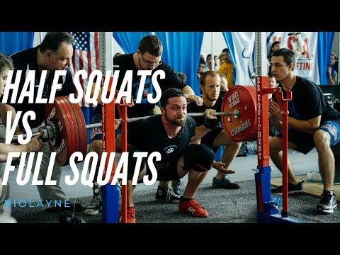 Half Squats VS Full Squats