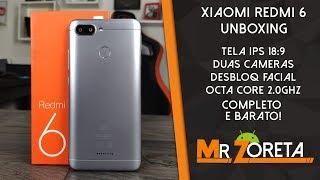 Xiaomi Redmi 6 - Baratinho da xiaomi! Duas câmeras, desbloq facial, octa-core! - Unboxing
