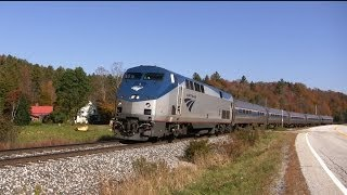 Amtrak in Vermont: Summer to Fall Foliage