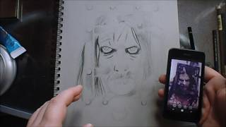 Working On 13 ghosts and a Werewolf Zombie Art Print Drawing