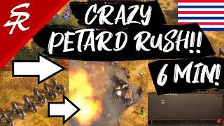 CRAZY Petard Rush!! | Strategy School | Age of Empires III
