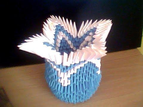 tutorial origami vaza
