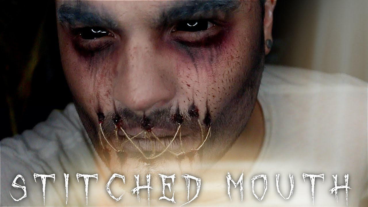 Stitched Mouth Ghost Halloween Makeup Tutorial | 31 Days of ...