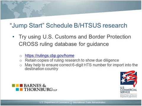 Harmonized Tariff Videos | export gov