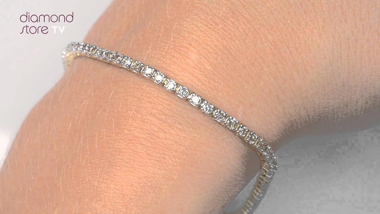 Diamond 2ct Tennis Bracelet In 9k Yellow Gold I3513