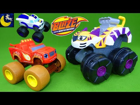 Blaze and the Monster Machines Toys Talking Mud Fest Blaze Super Tiger Claws Stripes Zeg & Darington