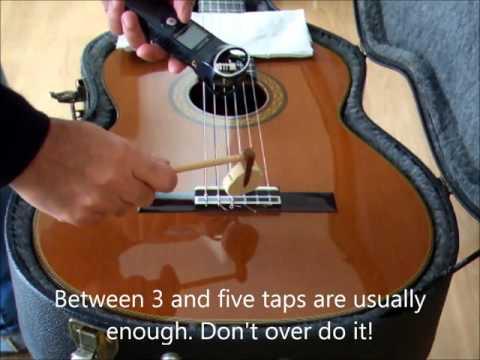 Tap Tones of a classical guitar