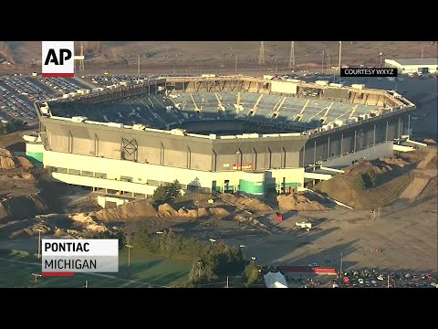 Failed Implosion of Detroit Silverdome Stadium