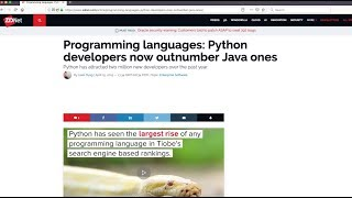 Python is the Fastest Growing Language of 2019