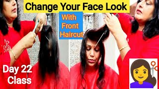 Front haircut in different style /Haircut In New style / देखों मुझसे कौन youtuber हेयरकट कराने आये