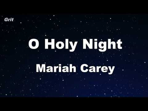 Karaoke♬ O Holy Night - Mariah Carey 【No Guide Melody】 Instrumental