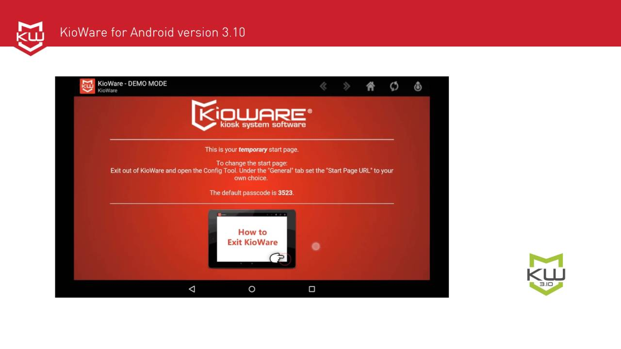 Android Kiosk App with Exit Tutorial by KioWare