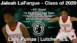 Jaleah LaFargue Highlights (Basketball on the Bayou) - Lady Pumas/Lutcher 2020 G