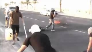 خطير : مُحاولة دهس الثوار أثناء تنفيذ عملية - عالي 25/9/2012