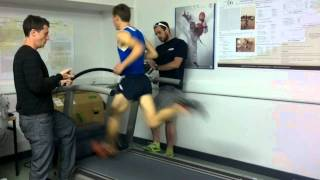 Joe Warne 800m world record treadmill attempt 28.5km/h