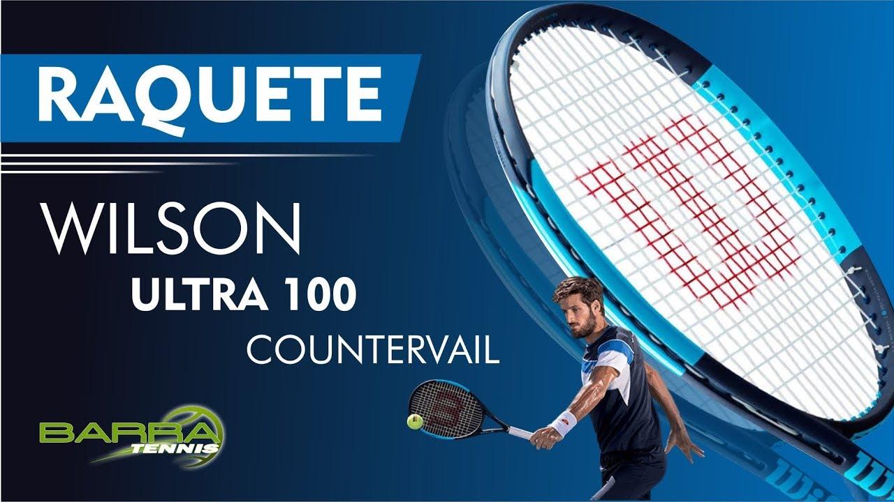 8a3982d16 Raquete de Tênis Wilson Ultra 100 Countervail 2018 Loja de Esporte Barra  Tennis