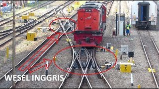 Prosesi Kereta Api Berpindah Jalur Melalui Wesel Inggris