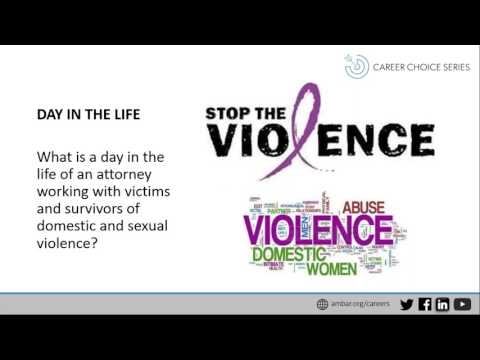 Career Choice Series: Domestic and Sexual Violence