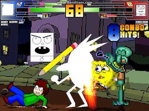 mugen-battle-#1477:-dooby-dummy-&-daniel-vs-doodlebob-&-spongebob