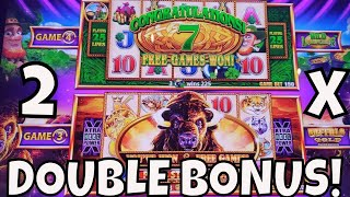 DOUBLE BONUS TWICE on WONDER 4 TALL FORTUNES!