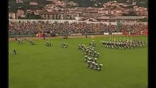 L'esibizione del Gruppo Pistonieri Santa Maria del Rovo nella Disfi...