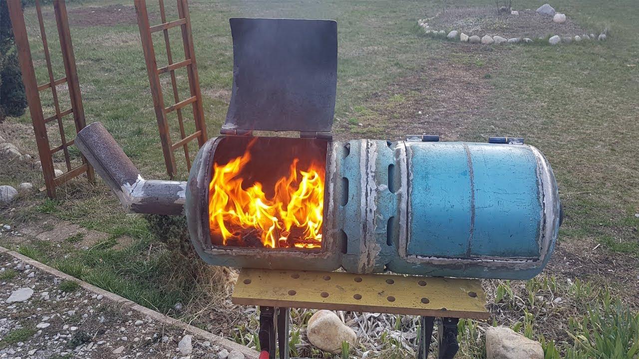 Fabrication bbq a partir de bouteille de gaz episode 1 3 - Fabriquer un chauffe eau piscine bois ...