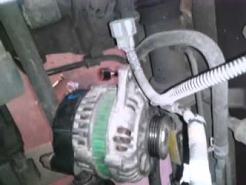 Removing Alternator and Replacement Alternator [2002
