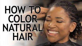 Coloring Natural Hair with Kiyah Wright: Ombre | CLAIROL PROFESSIONAL MAKEOVER MAGIC: MARIAH