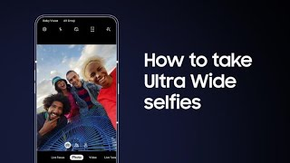 Galaxy A80: How to take Ultra Wide selfies