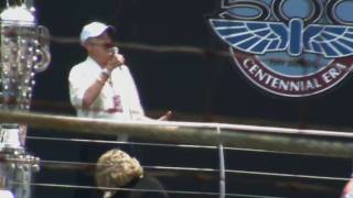 "Jim Nabors Sings ""Back Home Again In Indiana"" 2010 Indianapolis 500"