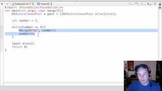 Objective C Programming Tutorial - 15 - while Loops